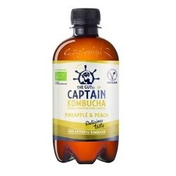 Napój Captain Kombucha Pineapple Peach Splash - ananas brzoskwinia BIO 400ml